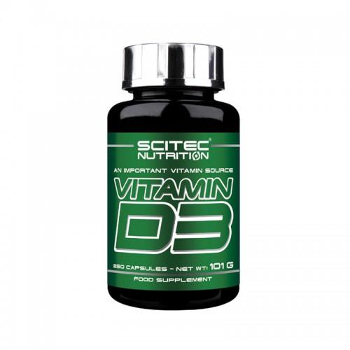 "Vitamin D3 (250 κάψουλες) ""Scitec Nutrition"" 101gr"