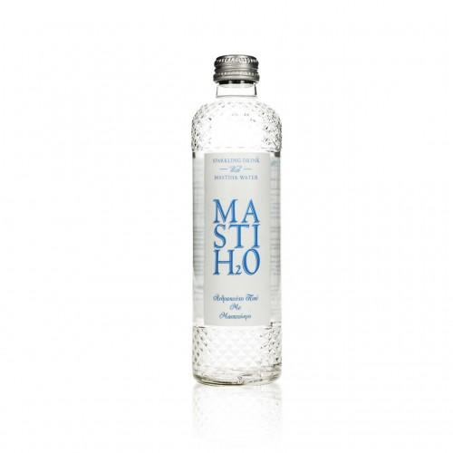 """Ανθρακούχο ποτό με μαστιχόνερο """"MastiH2O"""" 330ml"""