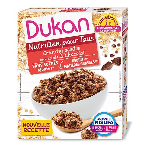 """Δημητριακά (Clusters) με κομμάτια σοκολάτας """"Dukan"""" 350gr"""