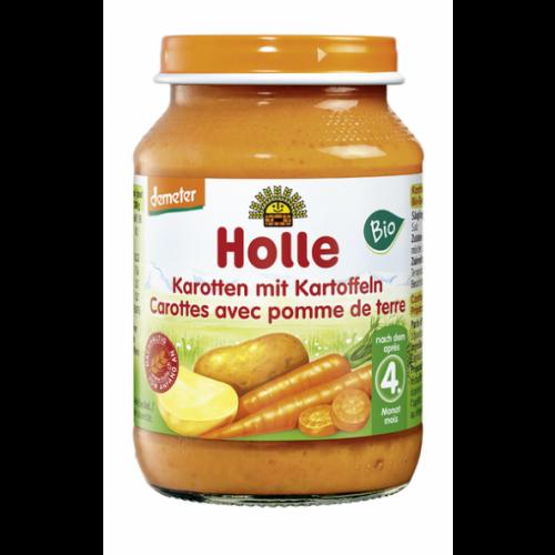 """Παιδικό γεύμα Καρότο με Πατάτα σε βάζο """"Holle"""" 190gr"""
