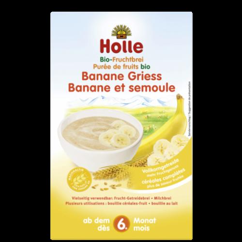 """Βρεφική κρέμα απο μπανάνα & σιμιγδάλι """"Holle"""" 250gr"""