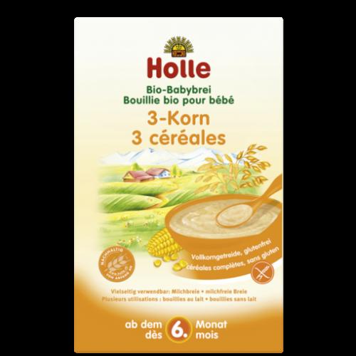 """Βρεφική κρέμα από ρύζι καλαμπόκι & κεχρί χωρίς γλουτένη """"Holle"""" 250gr"""