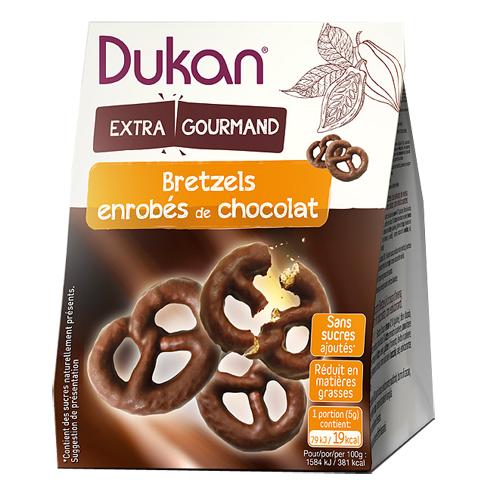 """Pretzels βρώμης με επικάλυψη σοκολάτας """"Dukan"""" 100gr"""