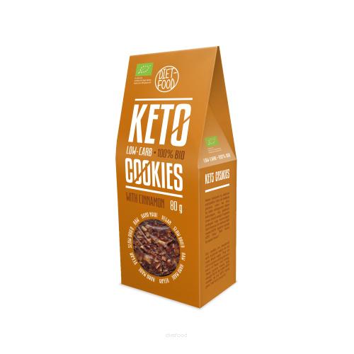 Μπισκότα Keto με κανέλα 80gr