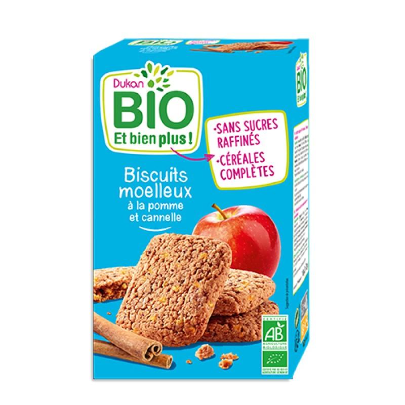 """Βιολογικά μπισκότα βρώμης με Μήλο & Κανέλα """"Dukan"""" 150gr"""