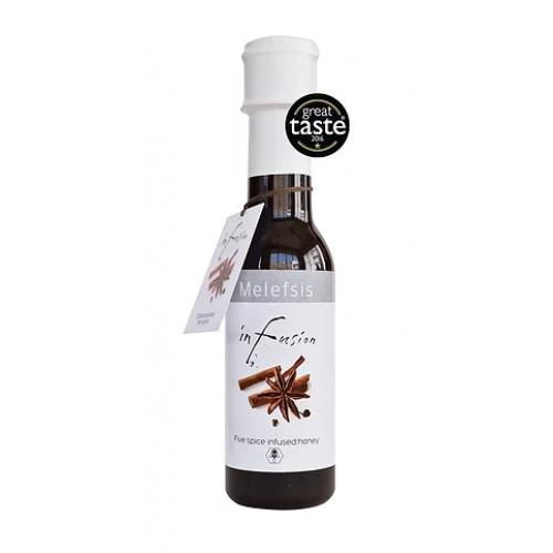"""Μέλι με εκχύλισμα 5 μπαχαρικών """"Melefsis"""" 260gr"""