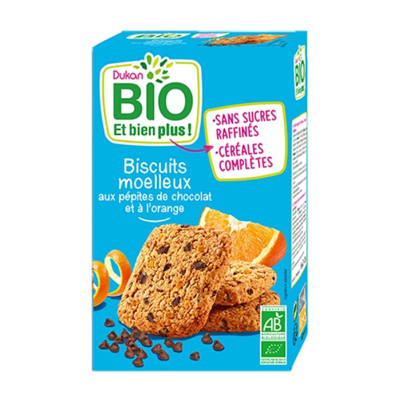 Βιολογικά μπισκότα βρώμης με κομμάτια σοκολάτας & πορτοκάλι DUKAN 150gr