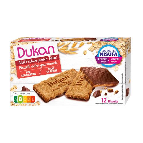 Μπισκότα Βρώμης με επικάλυψη σοκολάτας DUKAN 200gr