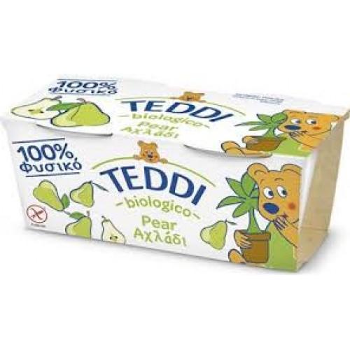 """Βιολογικό παιδικό γιαούρτι αχλάδι με ζώντα ένζυμα 2χ115gr """"Teddi Bio"""""""