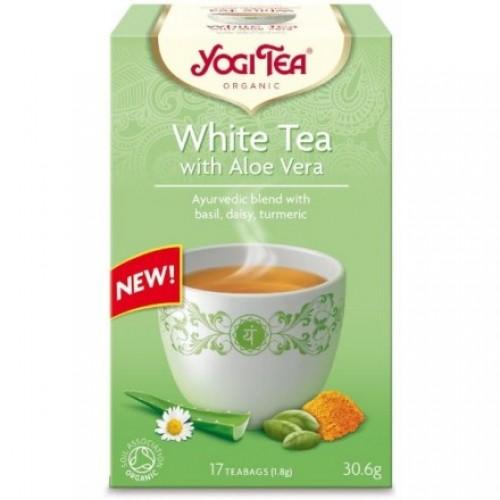 """Βιολογικό Τσάι White Aloe vera """"Yogi"""" 30gr"""