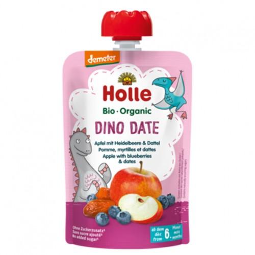 """Βιολογικός παιδικός πουρές μήλο,μύρτιλλο & χουρμά Demeter (από 6 μηνών) """"Holle"""" 100gr"""