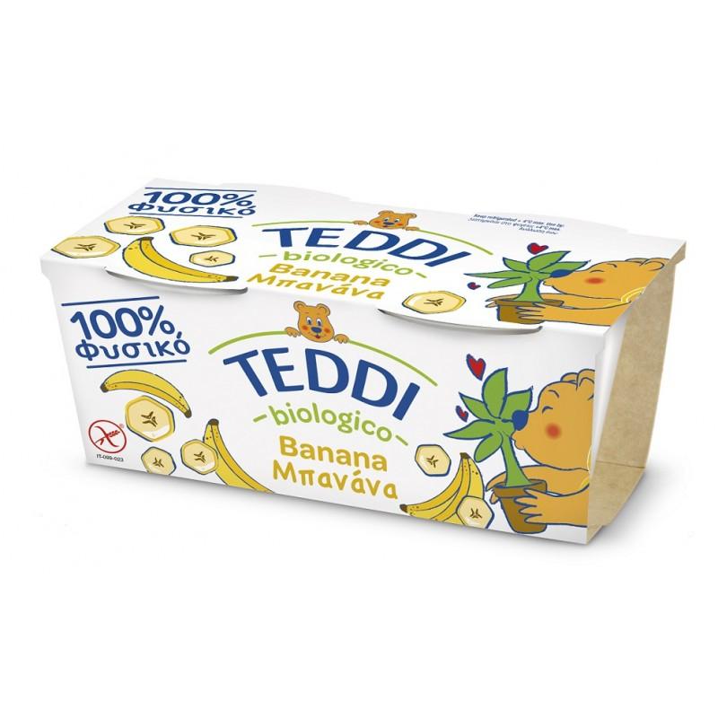 """Βιολογικό παιδικό γιαούρτι Μπανάνα με ζώντα ένζυμα 2χ115gr """"Teddi Bio"""""""