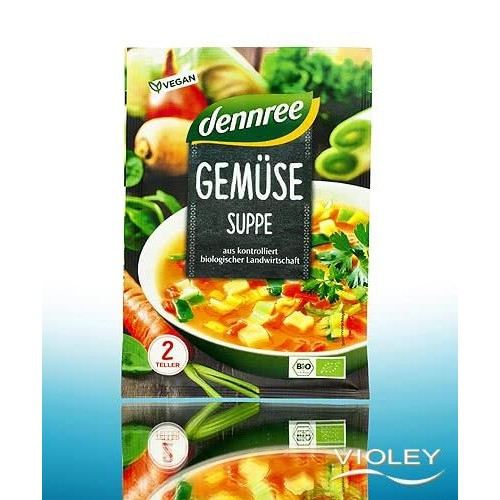 """Βιολογική Σούπα λαχανικών vegan """"Dennree"""" 40gr"""