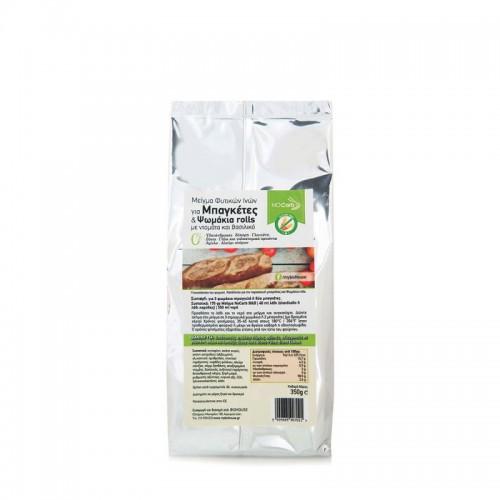 Μείγμα Αλεύρων NO CARB με φυτικές ίνες (για μπαγκέτες & ψωμάκια) με αποξηραμένη ντομάτα & βασιλικό 350gr
