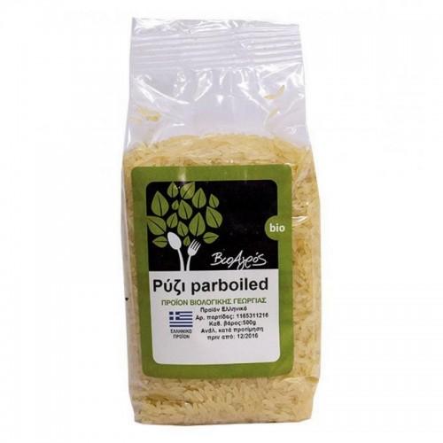 """Βιολογικό ρύζι Parboild """"ΒιοΑγρός"""" 500gr"""
