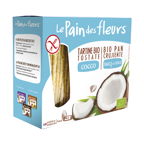 """Βιολογικά Κράκερς ρυζιού τραγανά με καρύδα """"Le pain des fleurs""""  150gr"""