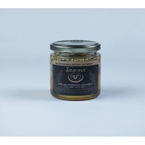 Μέλι με σπόρους κάνναβης ''ἄκεσις'' 250gr