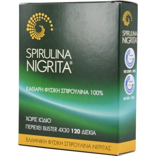 Spiroulina Nigrita Καθαρή Βιολογική Σπιρουλίνα 120 Δισκία 48gr