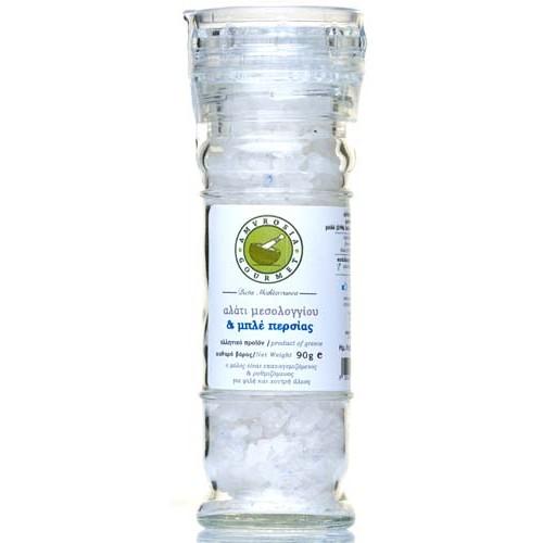 """Αλάτι Μεσολογγίου & Μπλε Περσίας """"Amvrosia Gourmet"""" 90gr"""