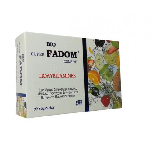 Πολυβιταμίνες - Bio Super Fadom Combivit Medichrom 30 κάψουλες