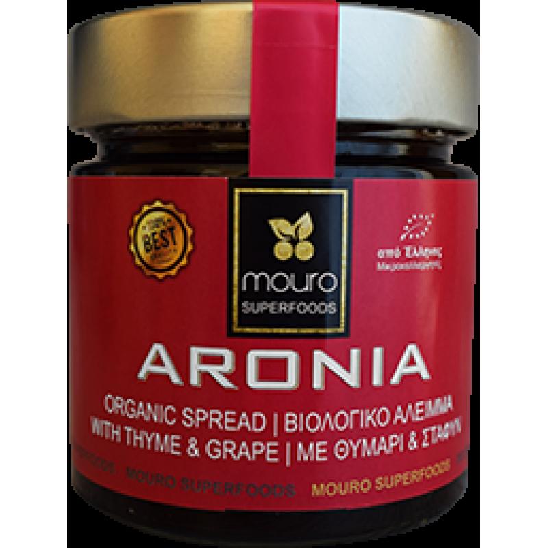 """Άλειμμα Αρώνιας με Θυμάρι & Σταφύλι BIO """"Mouro superfoods"""" 260gr"""