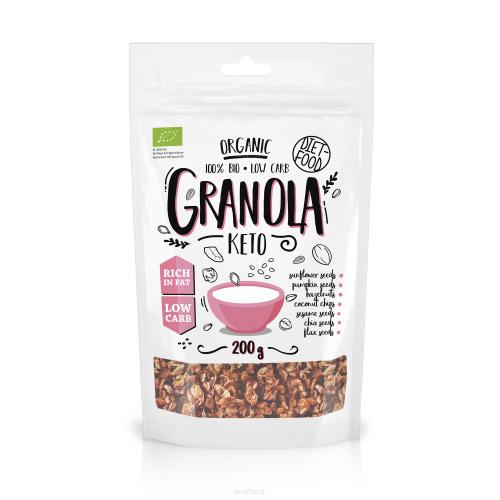 """Granola KETO BIO """"Diet food"""" 200gr"""