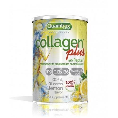 "Collagen Plus with Peptan με γεύση Λεμόνι ""Quamtrax"" 350gr"