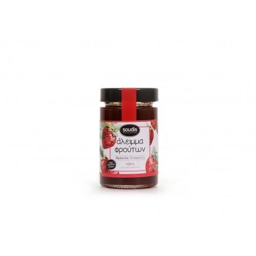 Άλειμμα φρούτων 100% Φράουλα Σούδης 230gr