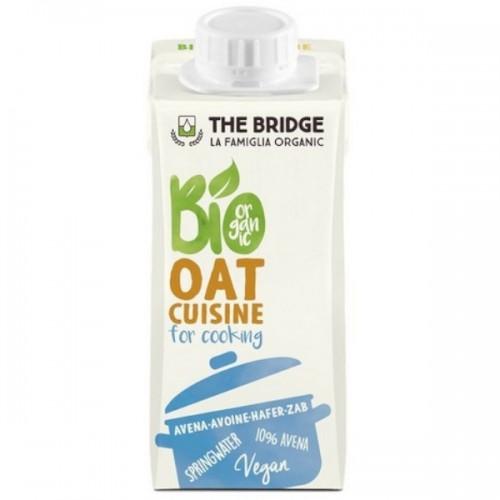 """Βιολογική Κρέμα μαγειρικής Βρώμη """"The Bridge"""" 200ml"""